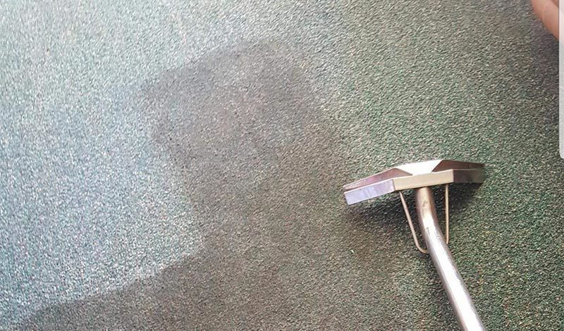 Grey carpet before and after
