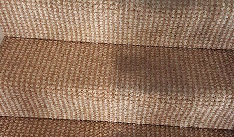 Stair carpet before and after